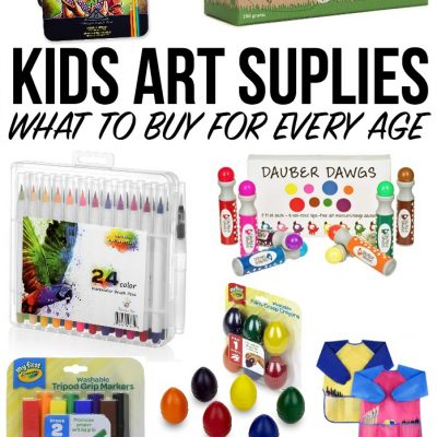 Kids Art Supplies – What to Buy at Every Age