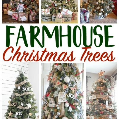 Farmhouse Christmas Tree Decorating Ideas