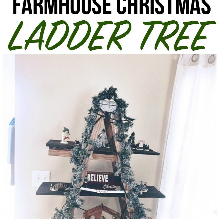 Farmhouse Christmas Ladder Tree