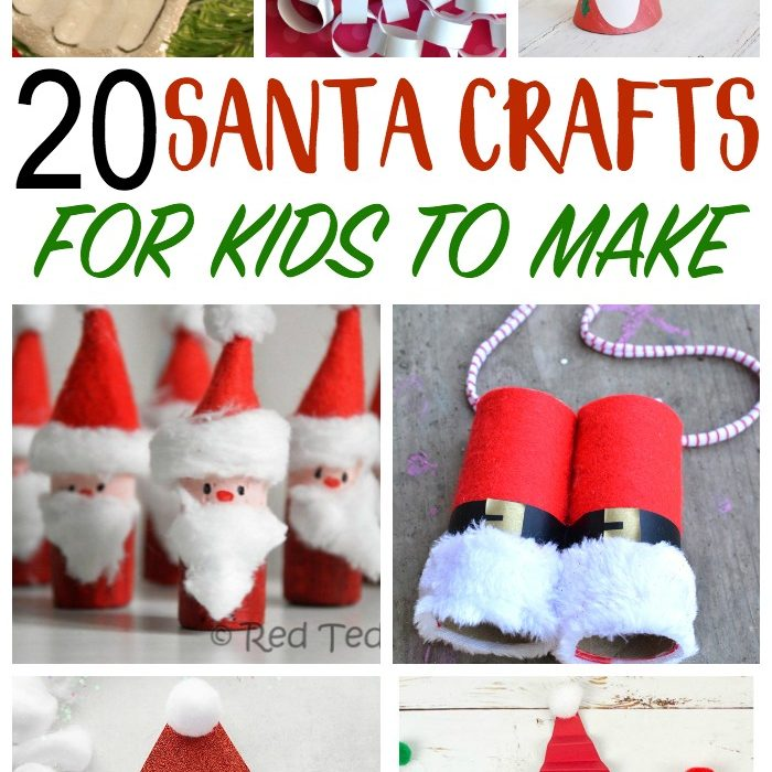 20 Santa Crafts for Kids to Make