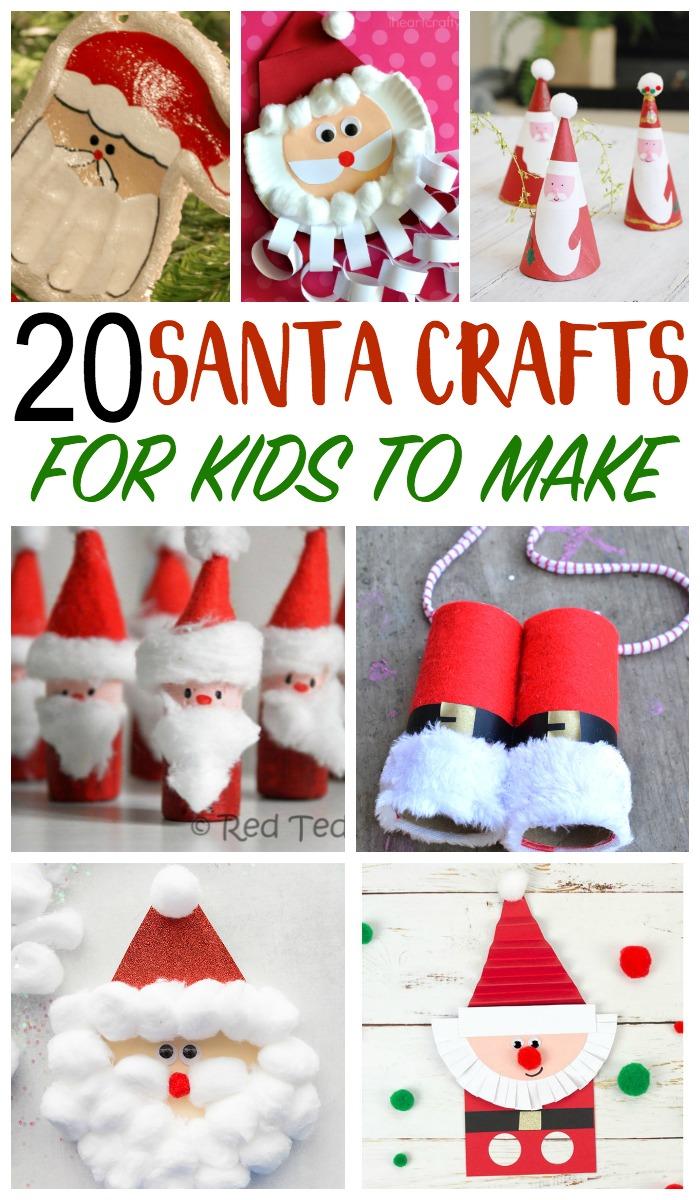 santa crafts for kids, christmas crafts for kids