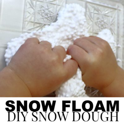 Snow Floam – A DIY Floam Recipe for a fun Sensory Snow Dough!