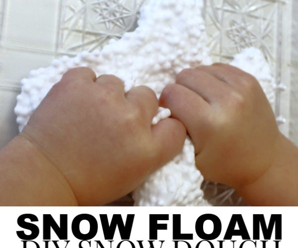 SNOW FLOAM, DIY SNOW DOUGH RECIPE