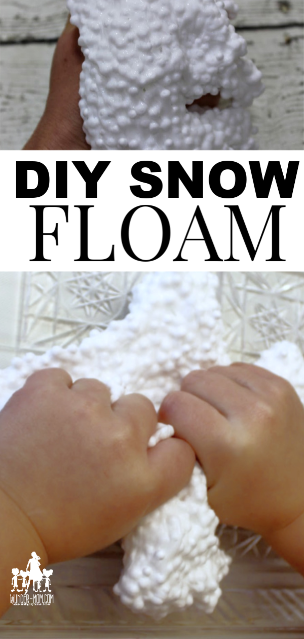 SNOW FLOAM, DIY FLOAM SNOW DOUGH RECIPE