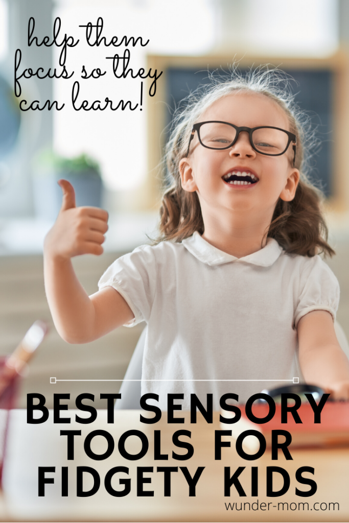 Sensory tools can make all the difference for children in the classroom.  If you have a fidgety kid, check out these sensory tools to help them focus in the calassroom.
