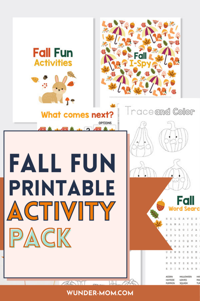 free fall printable activity pack for kids