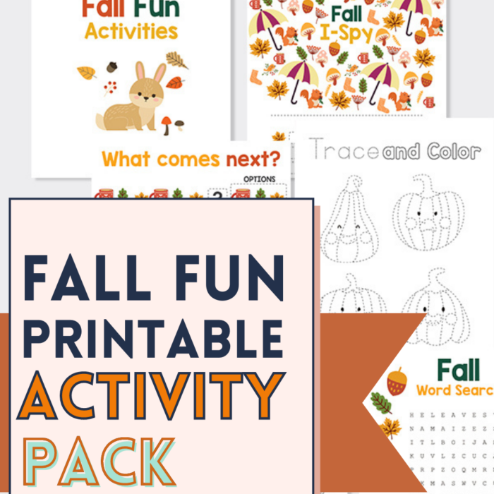 Fall Printable Activity Pack