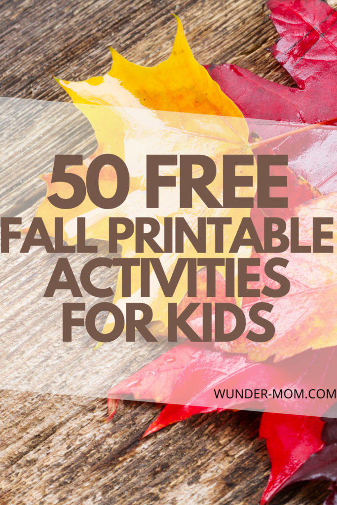 Free Fall printable activity packs and learning ideas for kids. This list of fall printable activity packs covers tons of subjects and lots of lessons for kids of all ages - there is something for everyone here!