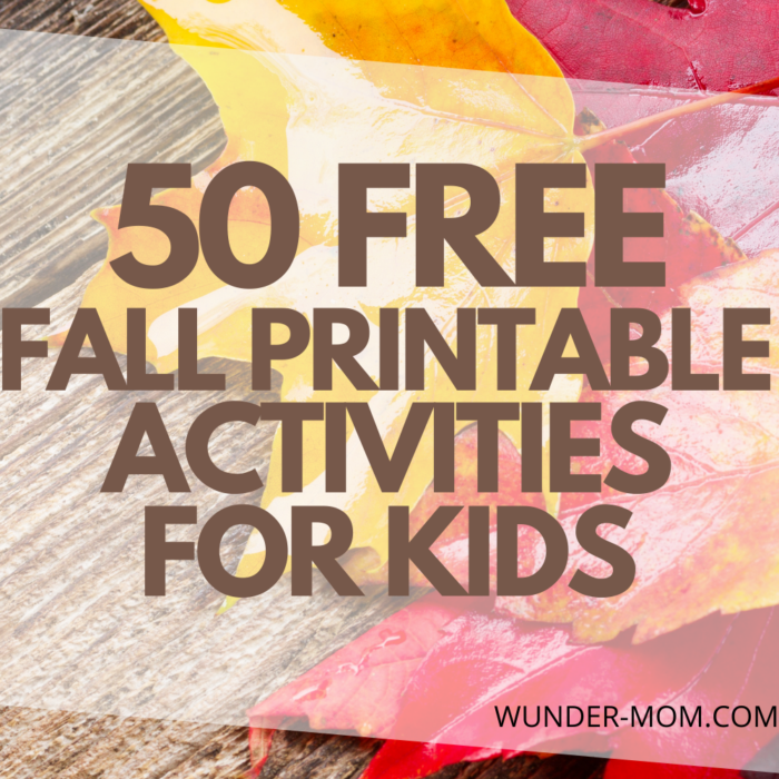50 FREE Fall Printable Activity Packs for Kids