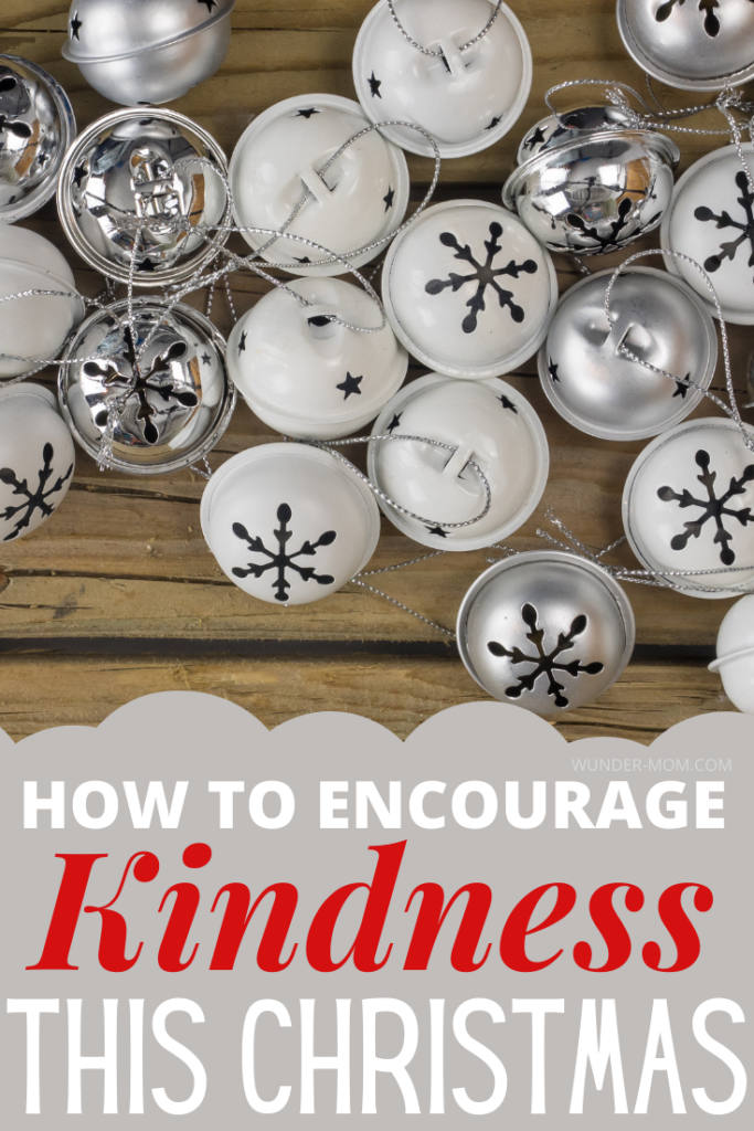 how to encourage kindness in your children this Christmas using a jar of jingle bells