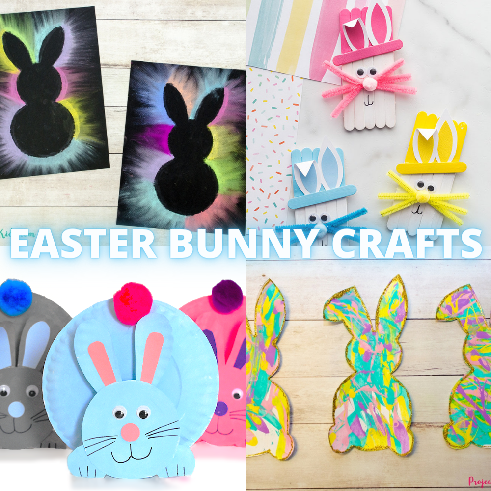 EASTER BUNNY CRAFTS FOR KIDS -  a collection of the best Easter Bunny crafts for kids.