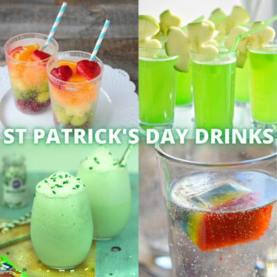 collection of st patricks day theme drinks for kids