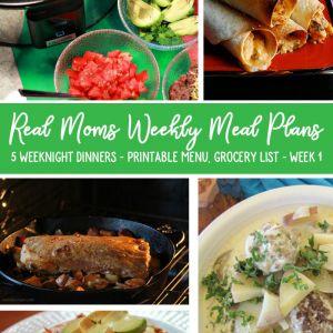wunder-mom weekly meal plan